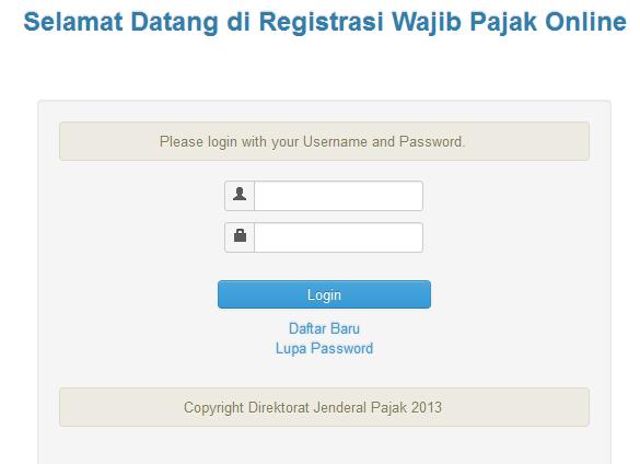 Cara mudah membuat NPWP secara Online